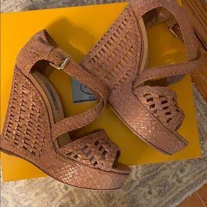 Prada Shoes - Prada woven leather platform slides